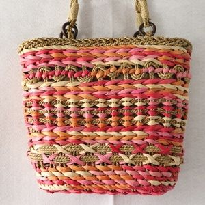 Cappelli Strawworld Purse/Bag Pink Straw Purse